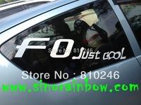 Custom die cut vinyl decals for car window