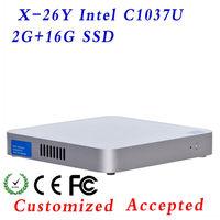 support VGA/HDMI Celeron Dual-core 1.8GHz X-26Y C1037U 2G RAM 16G SSD desktop mini pc mini pc hdmi windows linux mini pc