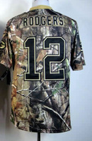Free ship Elite #12 Aaron Rodgers Camo Football Jersey,Embroidery logos,size 40-56,Sports jerseys,Accept mix order