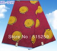 Snail design  dark red Dutch fashion african wax cotton fabric