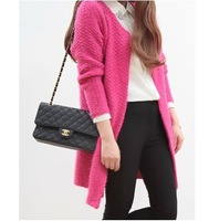2013 autumn and winter o-neck medium-long thickening loose sweater cardigan sweater female