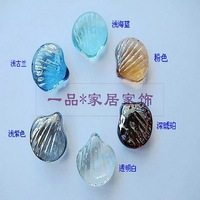 Colorful glass stone marbles pinball shell scallop fish tank decoration colorful crystal transparent stone marbles pinball