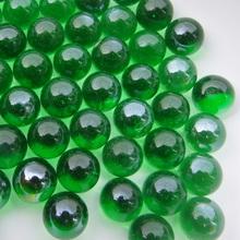 16 milímetros mármores contas de vidro brinquedo vaso verde peixes decoração tanque de contas de cristal bola qiziwan(China (Mainland))