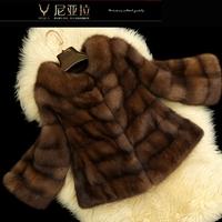 2013 fur mink marten fur overcoat fur coat female s135