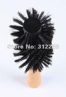 "Retail Hair brush professional! High Quality  Wooden boar bristle Round Hair brush ,L10"",Dia 3.15""  +Free shipping"