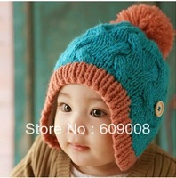 2013 children warm winter hat  bomber hat baby ear cap protector FREE SHIPPING KIDC#0805