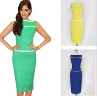 Drop shipping S, M, L, XL, XXL 4 Colors 2013 New Girl Sexy Party Dress Fashion Slim Hip Plus Size  Dress
