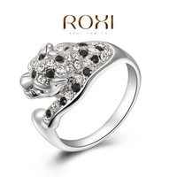 ROXI Brand fashion leopard animal ring,white gold plated,set with AAA zircon cystal,fashion Jewelry,2010007350