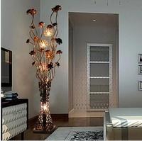 Modern brief fashion floor lamp bedroom lamp fashion vase aluminum wire floor lighting