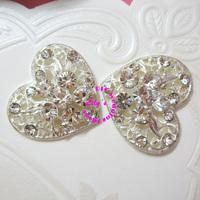 rhinestone diamante embellishment/cluster, 130pcs/lot,DIY Wedding Supplies, small rhinesotne brooch for invitations