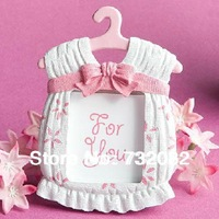 High quality 10pcs/lot Baby shower baby picture frame free shipping small gifts picture frame E2611-pink