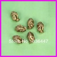 KJL-0126 50pieces/lot 11x9mm gold silver plated Metal buddha beads european bead for jewelry making DIY bracelets buddha beads