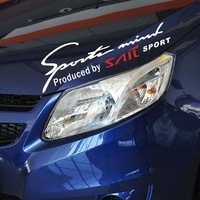 Sports spirit reflect light Front/Rear Windshield Car stickers decorative accessories FOR CHEVROLET SAIL