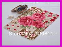 free shipping 2013 High quality fashion new cut flower mat crapet myrtle doormat bathroom slip-resistant absorbent mats carpet