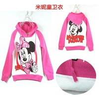 Free shipping 2013 New Autumn Baby Wear Girls Minnie Hoodies Fleece Children Cartoon Sweatshirts Top Sweater Kids clothing