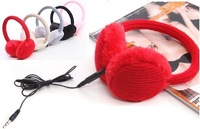 Heating a plush music headphones With headphones earmuffs