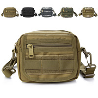 Small casual molle camouflage messenger bag 9230 Free shipping