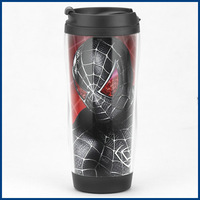 Spiderman Mug Cup, Spider Man Double Plexiglass Insulation WOW Mug Coffee Cup, High Quality Designed in Japan