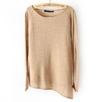 2013 belt lining sweep long-sleeve sweater basic shirt