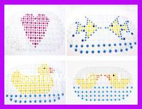 free shipping modern toilet pvc cartoon mat carpets animals baby children's rug bath mats setnovelty households kids bath mats