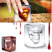 Free Shipping Doomed Crystal Skull Shot Glass/Crystal Skull Head Vodka Shot Wine Glass Novelty Cup