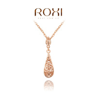 ROXI brand fashion flower hollow out rose gold plated necklaces for women, Fashion gold Jewelry,2030019345