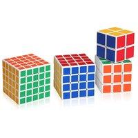 ShengShou Set von 4 Cube Magique Cube 2x2x2, 3x3x3, 4x4x4 und 5x5x5 First Choice For Beginners / Kids