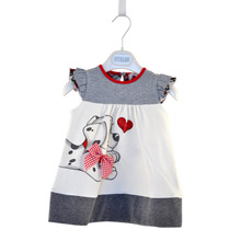 2014 new 1 pieces retail new cotton baby girl summer casual dresses(China (Mainland))