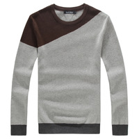 2013 autumn o-neck slim knitted plus size plus size Men pullover sweater