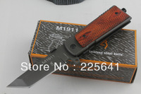 Free shipping!Brown BrowningM1911 Folding Knife,8CR14MOV Blade,Rosewood Handle,Survival Pocket Knife,Outdoor Tools,High Quality