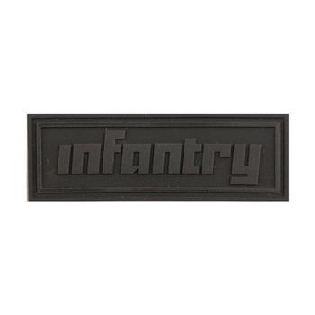 Fashion Military INFANTRY Logo Black PVC Brand Labels Sticker Trademark Tag NEW
