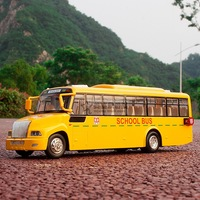Large yutong bus school bus bus alloy car model cars