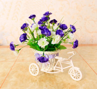 Free shipping  vintage artificial flower vase rattan wicker basket vase wicker craft home decoration gift wedding decoration