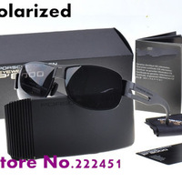 Brand polarized sunglasses for men driving mirror polarizer magnesium gentleman men sunglasses P8459 with original box