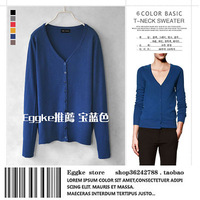 Eggshell 2013 autumn and winter women thin sweater cardigan basic shirt sweater slim short jacket