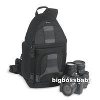 Genuine Lowepro SlingShot 200 AW DSLR Camera Photo Laptop Bag Backpack Rucksack for Canon Nikon Waterproof + Weather Cover Black