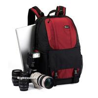 "Genuine Lowepro Fastpack 350 DSLR Camera Photo 17"" Laptop Bag Backpack Rucksack for Canon Nikon Waterproof + Weather Cover (Red)"