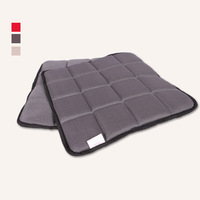 free shipping 5pcs 45x45x2cm 100% memory foam pillow cushion car for adults summer car seat (gray)
