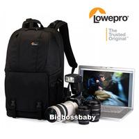 "Genuine Lowepro Fastpack 350 DSLR Camera Photo 17"" Laptop Bag Backpack Rucksack for Canon Nikon Waterproof + Weather Cover Black"