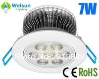 16X 7W LED recessed lamp, with 7pcs high power LED cutout hole 90mm