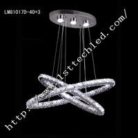Round-type Double Deck 55W Fashionable Design LED Crystal Chandeliers