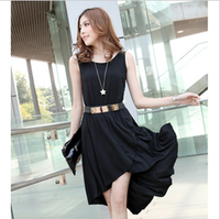 Expansion 2013 irregular bottom o-neck one-piece dress fashion dovetail midguts tank dress