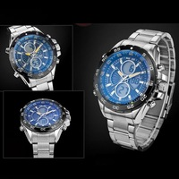 Free Shipping Men Multifunction Waterproof LED Noctilucent Luminous Military Dual Display Running Outdoor Sports Watch