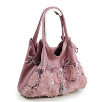 Paillette bags 2013 women's handbag fresh flower lace women's handbag autumn and winter vintage messenger bag