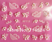 2013 promotion French 3D natural Decal nail sticker Flower design Nail Art Decoration,wholesale Dropshipping,70set/lot,100style