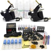 1set - Professional Permanent Tattoo Kit (A2022) with 2pcs Pro Tattoo Machine/Gun & Power Supply / Body Art - Free Shipping