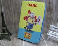 "Free Shipping Cute Cartoon Despicable Me Minions Flip Stand Kid Leather Case Smart Cover For Samsung Galaxy Tab 3 8.0"" T310 T311"