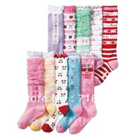 4-7Y 20pairs/lot Free shipping 2013 new Hot-selling child cotton socks all-match girls Beautiful lace High Socks  (15-19cm)
