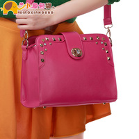 Circleof bag 2013 fashion rivet chain women's handbag bag messenger bag