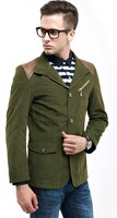 Brand splicing caual jacket coat 2013 new fashion free shipping 4 color in stock autumn fashion comfortable men jacket 81